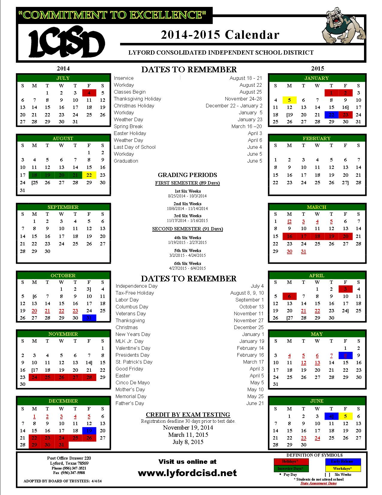Broward County School Calendar 2015 2016
